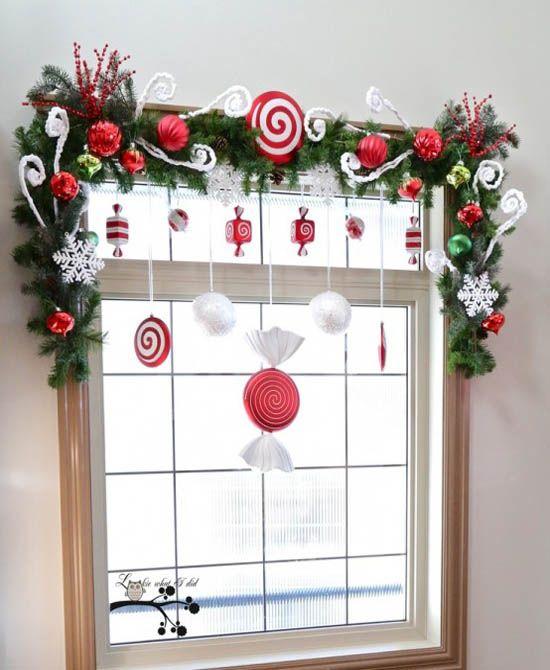 Сделать украшения на окно своими руками для нового года