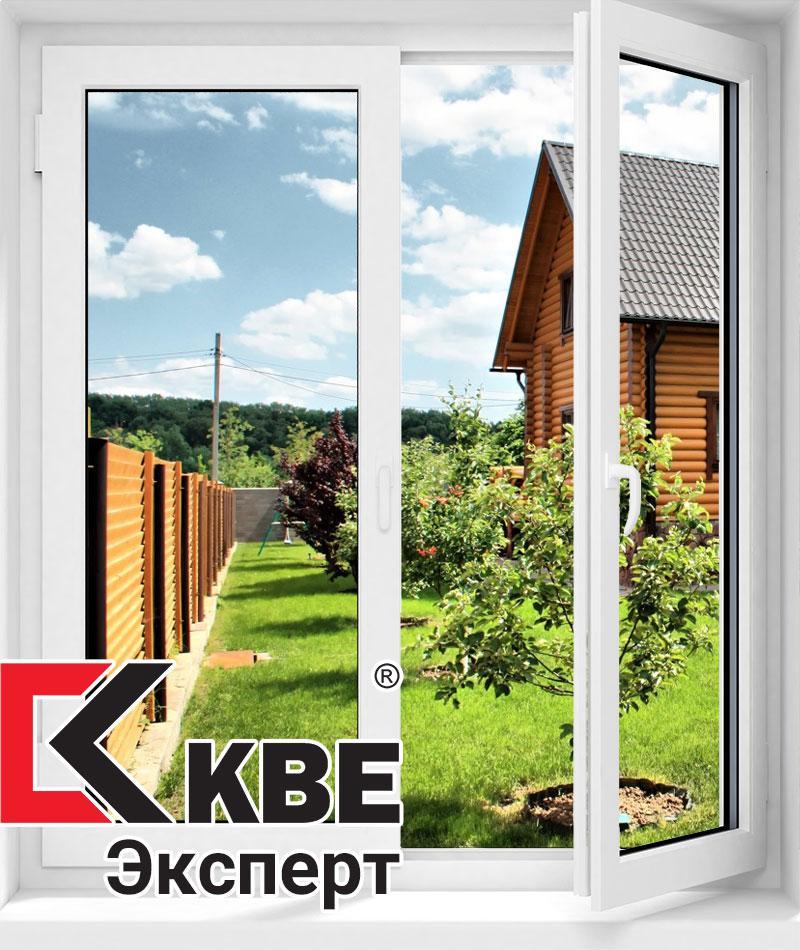 Двухстворчатое из профиля KBE Эксперт 1300*1400 (4-10-4-10-4)