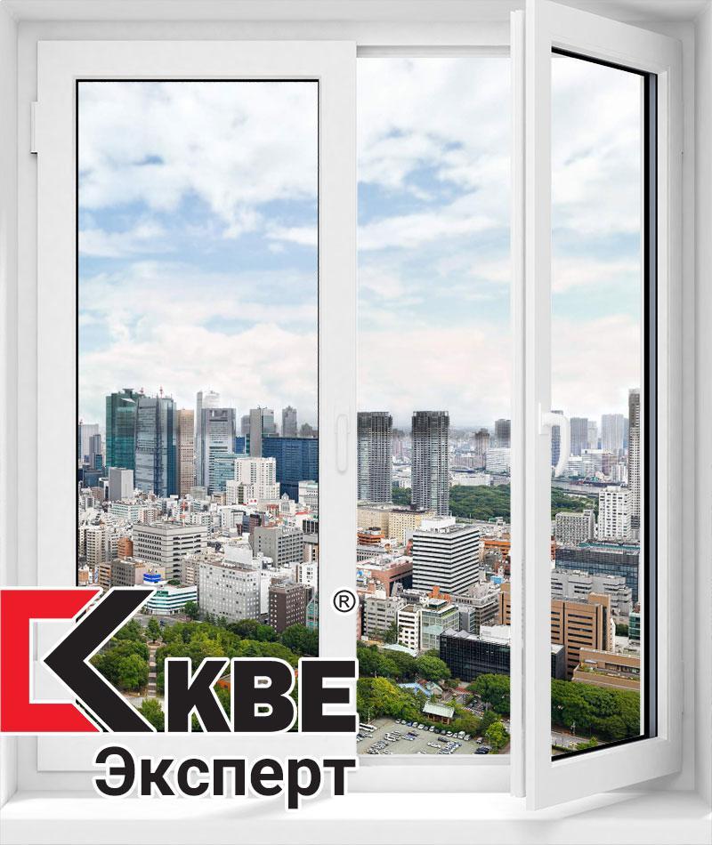 Двухстворчатое из профиля KBE Эксперт 1300*1400 (4-24-4)
