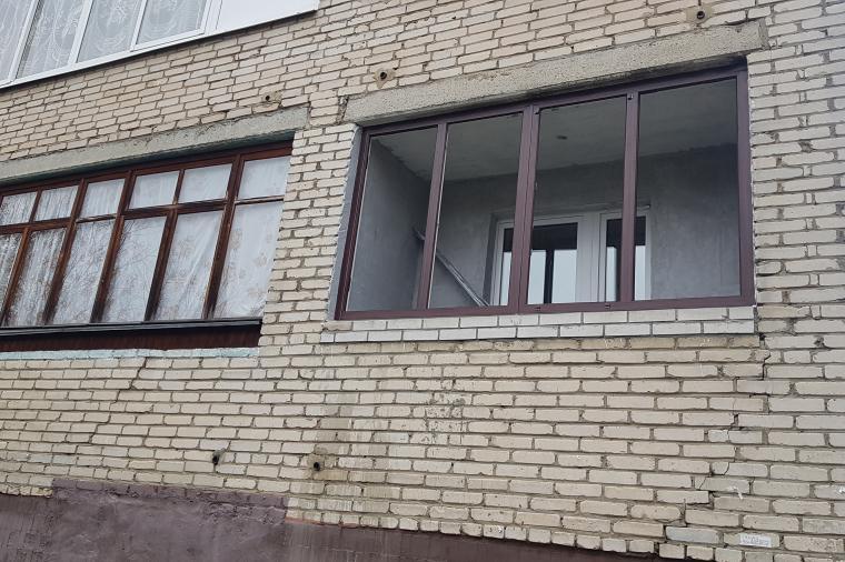 Остекление балконов в Ногинске.  ПВХ конструкция с односторонней ламинацией - 1344616859