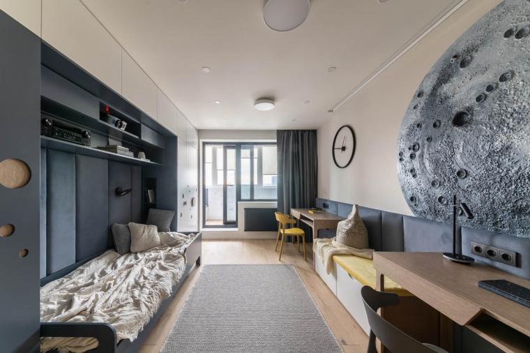 Детская с балконной дверью черного цвета – стильно и со вкусом - 711142200