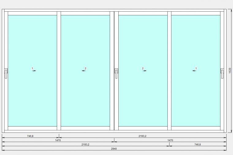 Балконные раздвижные окна из алюминия в Домодедово - 2034656587