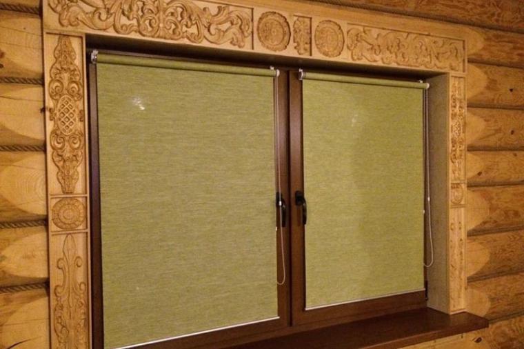Деревянные наличники на пластиковые окна - 880468044