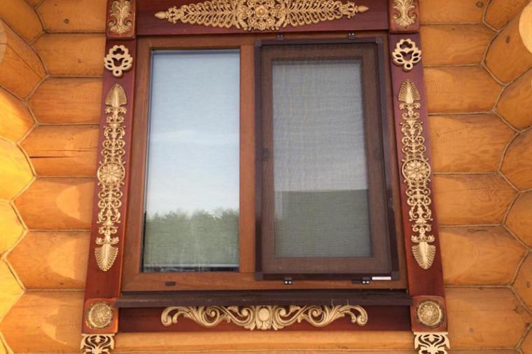 Деревянные наличники на пластиковые окна - 2114472405