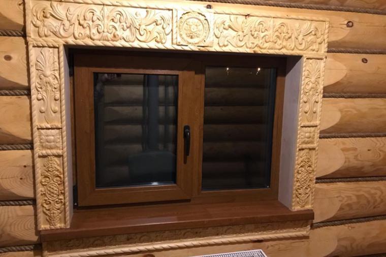 Деревянные наличники на пластиковые окна - 1440173484