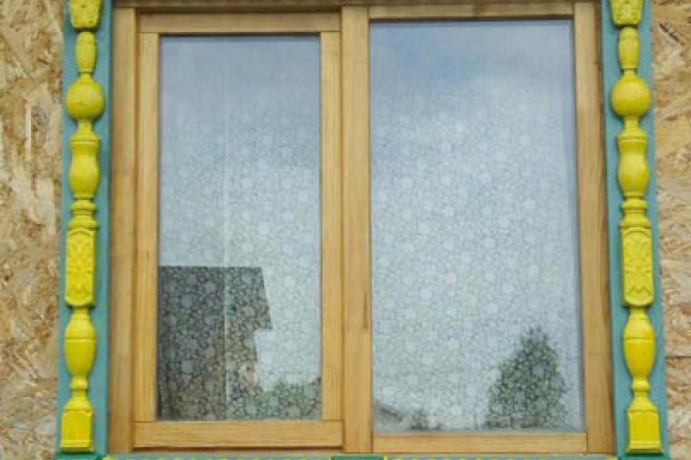 Деревянные наличники на пластиковые окна - 958957447