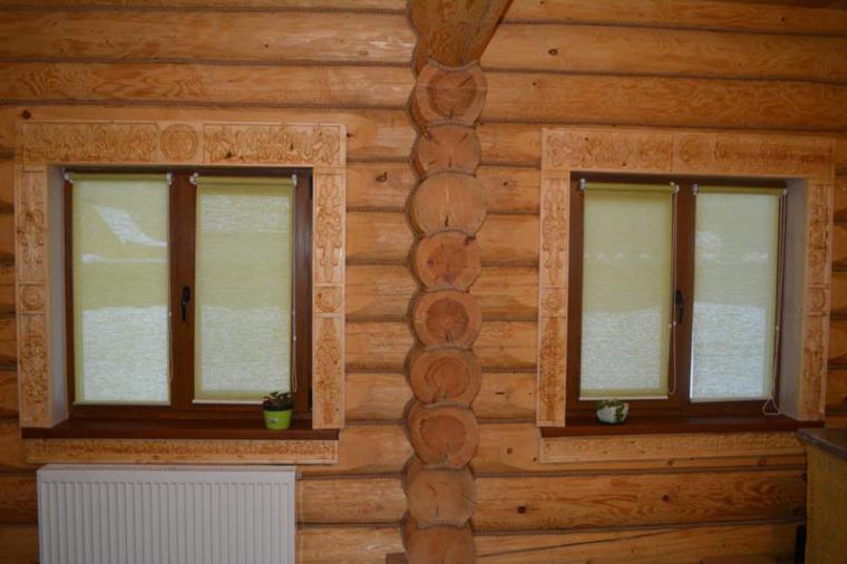 Деревянные наличники на пластиковые окна - 1556606403
