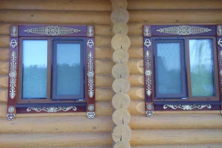 Деревянные наличники на пластиковые окна - 438895464