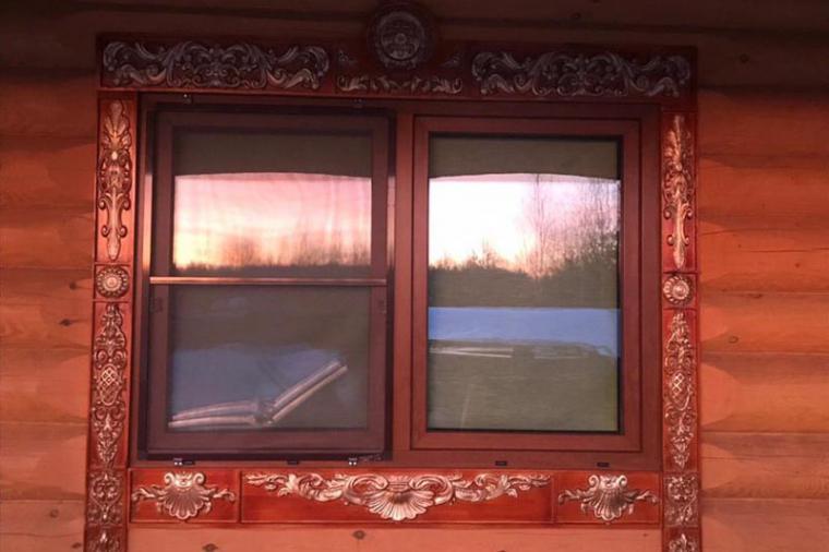 Деревянные наличники на пластиковые окна - 471698441