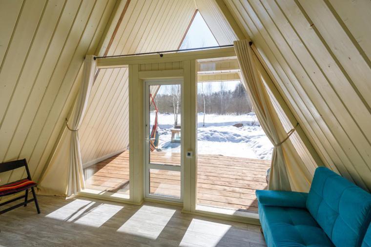 Черно-коричневые окна для дома-шалаша в Евсеево - 1420894432
