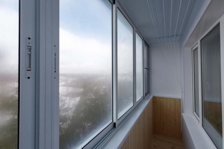Раздвижное остекление балкона - 1842180312