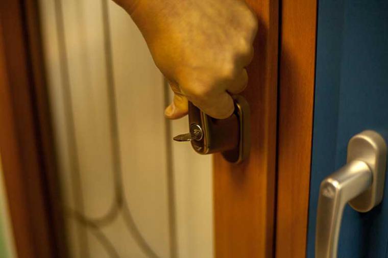 Ручка оконная с замком и ключом