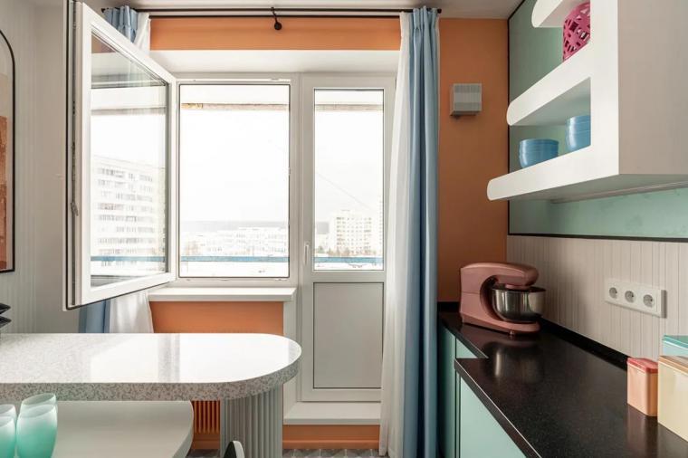 Кухня с выходом на балкон: рациональные решения - 888887011