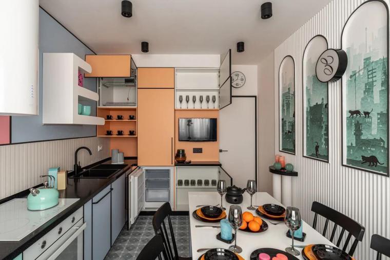 Кухня с выходом на балкон: рациональные решения - 1022704996
