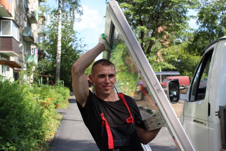 Замена окон в подъезде в Павловском Посаде прошла на отлично! - 520377197