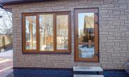 Летняя кухня с большими окнами - 1006011111