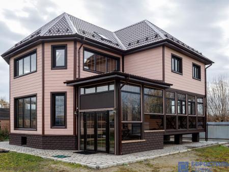 Шоколадно-коричневые пластиковые окна Павловский Посад,  деревня Грибово - 1601460947